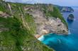 Aerial view of Kelingking beach, Nusa Penida island, Bali, Indonesia