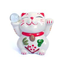 A Maneki-neko Ceramic Smile Ca...