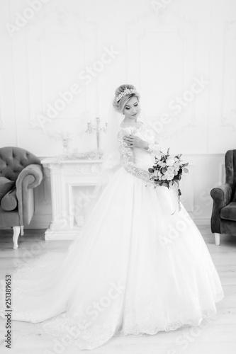 Printed kitchen splashbacks Fairytale World Glamorous bride in wedding dress