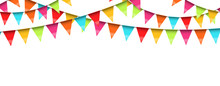 Seamless Colored Garlands Background