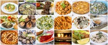 Traditional Delicious Turkish Foods Collage. Food Concept Photo.