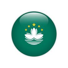 Macau Flag On Button