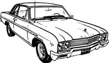 Buick Two Door Vector Illustration