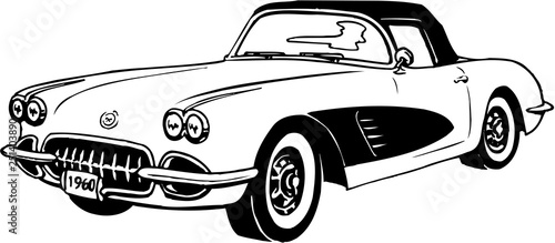 1960 Corvette Vector Illustration
