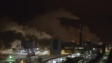The Smoke Coming From The Paper Mill Factory