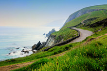 Road Along The Scenic Coast Of...