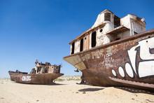 Rustic Boats On A Ship Graveya...