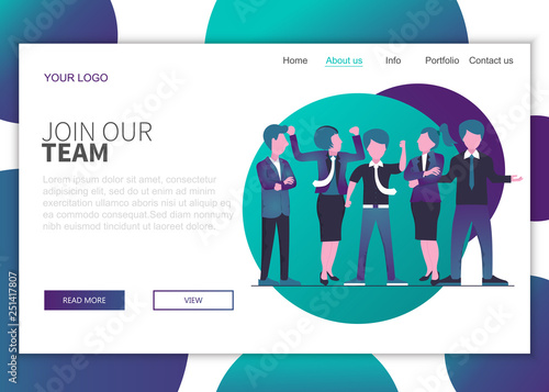 Join our team landing page concept for website Wallpaper Mural