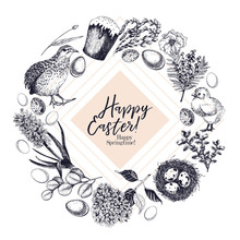 Easter Greeting Card. Hand Dra...