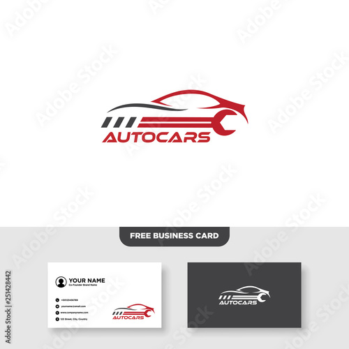 Automotive Logo, Free Business Card - Vector Canvas-taulu