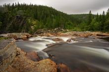 Long-term Recording Water Brook Stone Rocks Trees