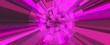 canvas print picture - Pink digital background. 3D illustration.