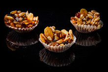 Three Of Useful Handmade Candies With Caramelized Sunflower And Pumpkin Seeds
