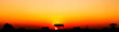 canvas print picture - Sunset over Curitiba