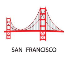 San Francisco Modern Cityscape Flat Illustration
