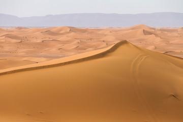 Fototapeta na wymiar Deserto del Sahara, Dune di Erg-Chigaga, M'Hamid El Ghizlane, Marocco