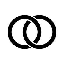 Interlocking Circles, Rings Concept Vector Illustration Concept Image Icon