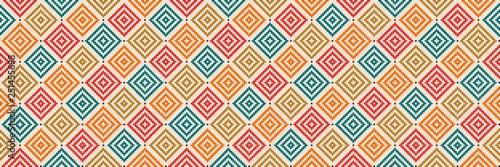 Aztec like style pattern illustration Canvas Print