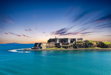 The Old Fort Of El Morro On The Coast Of San Juan Puerto Rico