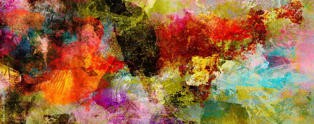 Fototapeta texturen malerei farben banner bunt
