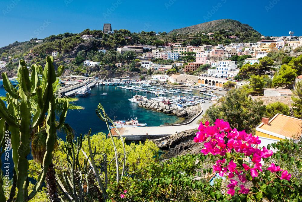Fototapety, obrazy: Port of Ustica Island at Tyrrhenian Sea located near Palermo, Sicily, Italy