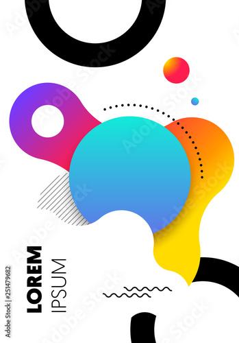 Fotografie, Tablou Abstract gradient geometric shape layout design template background modern art s