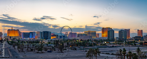 Photo Stands Las Vegas Las Vegas Strip Casinos and Hotels Skyline Panorama