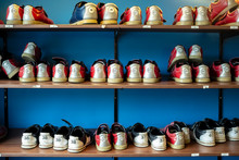 Rack With Shoes For Bowling Of...