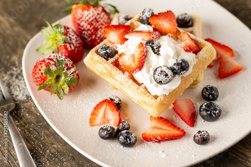 Fotografía  Belgian Waffle Breakfast