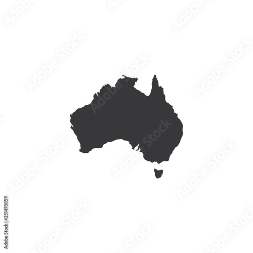 Australia Map Simple.Australia Map Simple Icon Buy This Stock Illustration And Explore