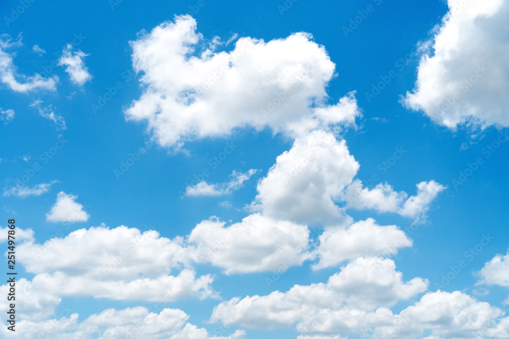 Fototapety, obrazy: Blue sky and white clouds background.