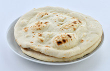 A Traditional Pakistani Flat Bread Baked In Clay Oven
