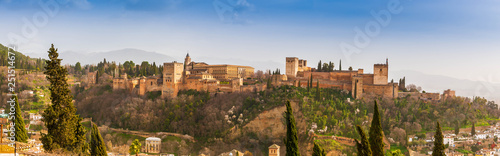 Fototapeta Palais de l'Alhambra à Grenade en Andalousie, Espagne