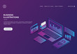 Concept business and Financial with isometric design