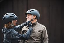 Active Senior Couple With Bike...