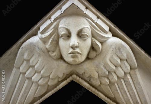 Face angel Cherubim and Seraphim Canvas Print