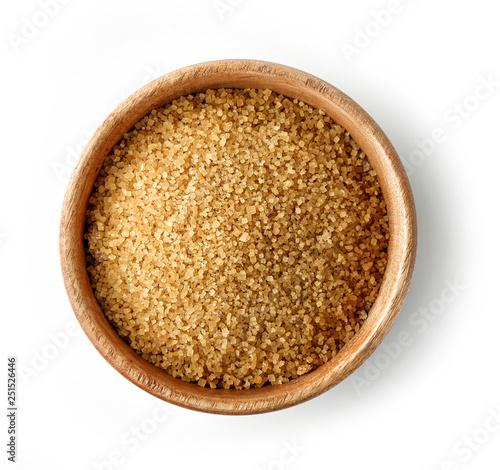 Fototapeta bowl of brown sugar obraz