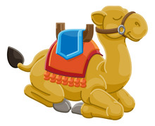 A Camel Cute Animal Cartoon Character Illustration