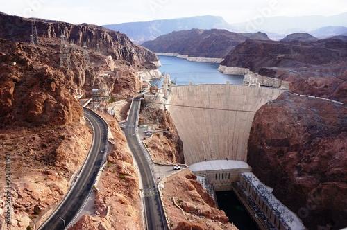 Deurstickers Kust Hoover Dam