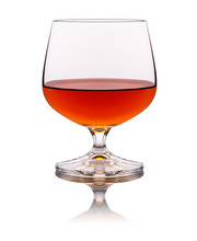 One Glass Of Brandy Isolated O...
