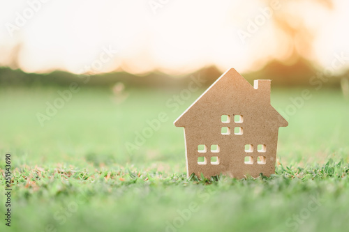 Copy space of home and life concept Canvas Print
