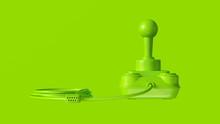 Lime Green Retro Joystick 3d Illustration 3d Render