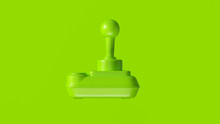 Lime Green Retro Wireless Joystick 3d Illustration 3d Render
