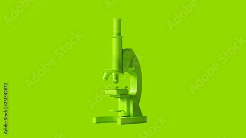 Pinturas sobre lienzo  Lime Green Traditional Microscope 3d illustration 3d render