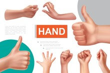 Realistic Hand Gestures Compos...