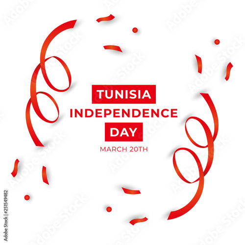 Fotografie, Obraz  Happy Republic of Tunicia Independence Day Vector Template Design Illustration