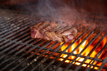 BBQ Beef, Charcoal Grill. Roas...