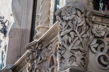 Sculptures Au Motif Floral, Maison Gaudi Barcelone