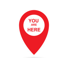 You Are Here Pointer Icon