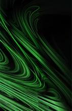 Wave Green Graphic Art Wallpaper Design